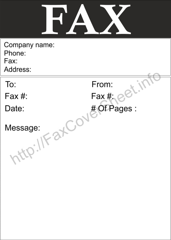 Free Fax Sheet Download